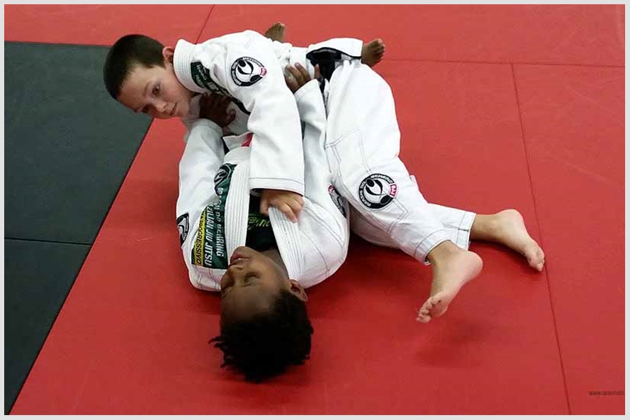 BJJ Kids on the mats