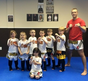 Leduc Tiny Thaigers class after grading.