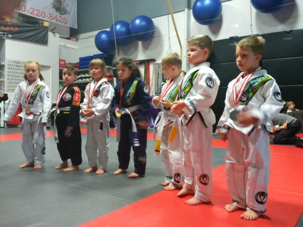 BJJ Kids getting ready to compete!