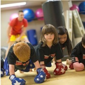 Kid's having fun & learning fitness while learning Muay Thai!