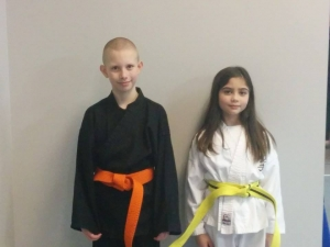 Brand new Karate belts, well earned!
