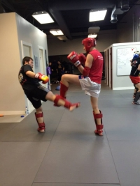 Adult Muay Thai workouts at Edmonton West are fun!