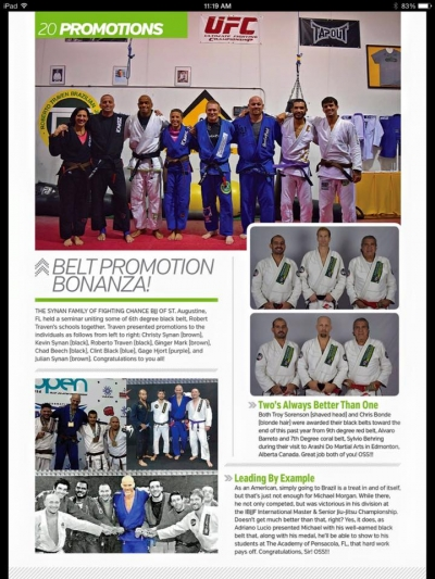 Chris Bonde and Troy Sorenson receive Jiu Jitsu Black Belts form Grand Mastre Barreto and Mestre Behring