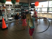 Hoola Hooping was just on of the many activities at the 5th anniversary celebration of Edmonton West!