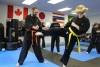 Moving and grooving in Adult Karate class at Deerfoot North